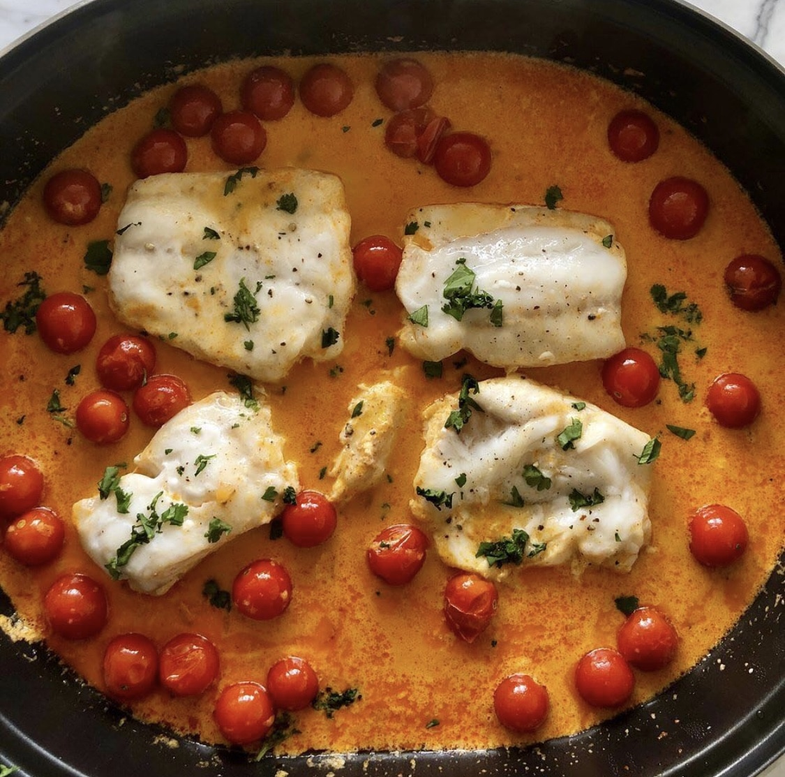 Coconut Red Curry Cod