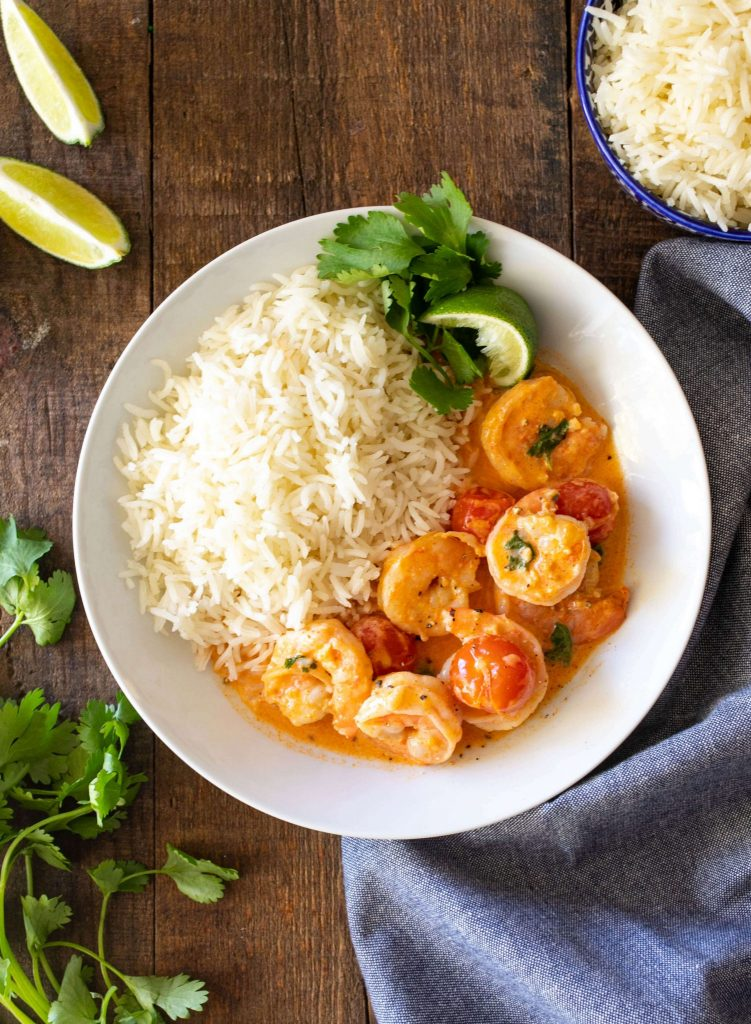Coconut Red Curry Shrimp