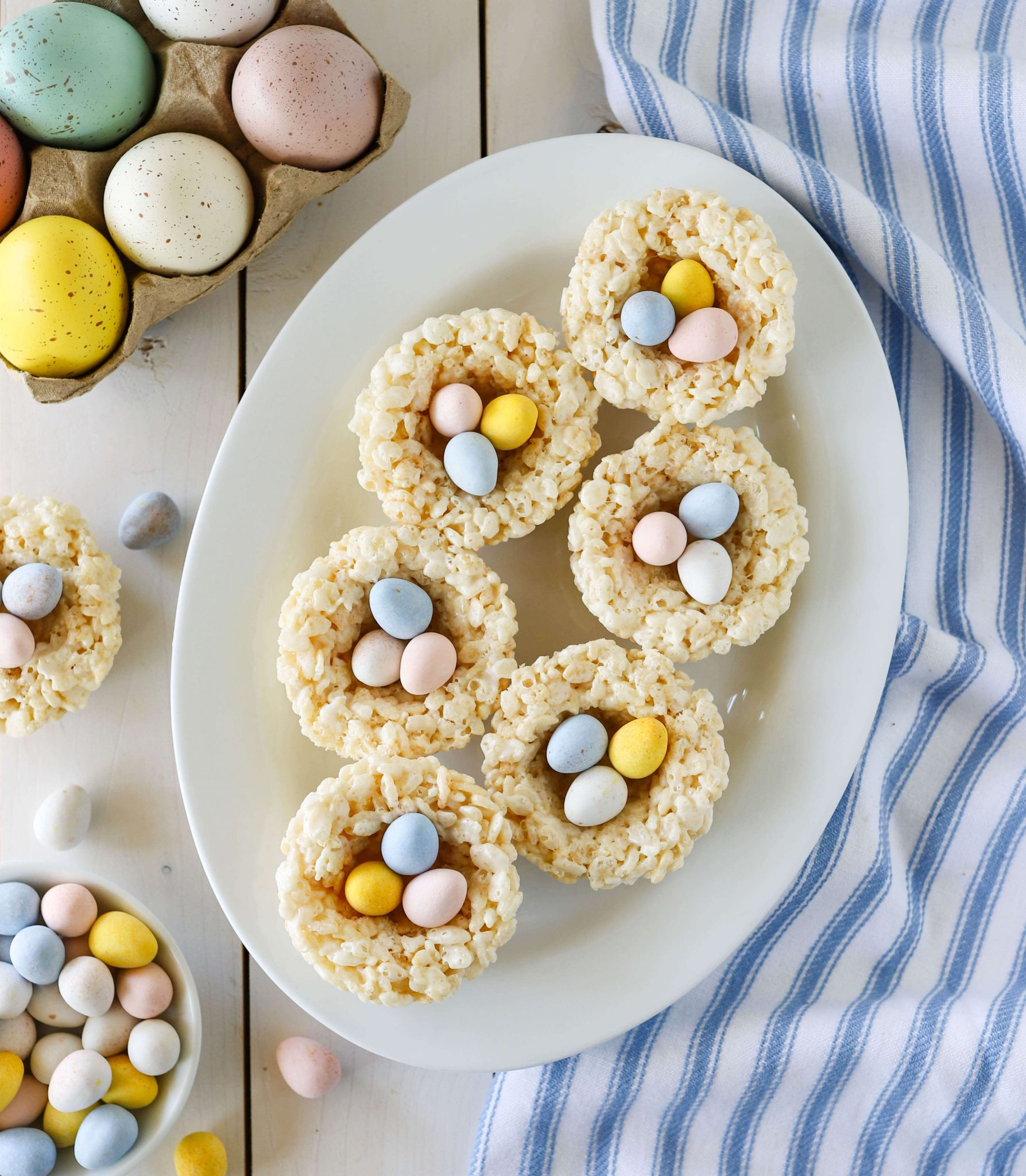 Rice Krispie Treat Nests