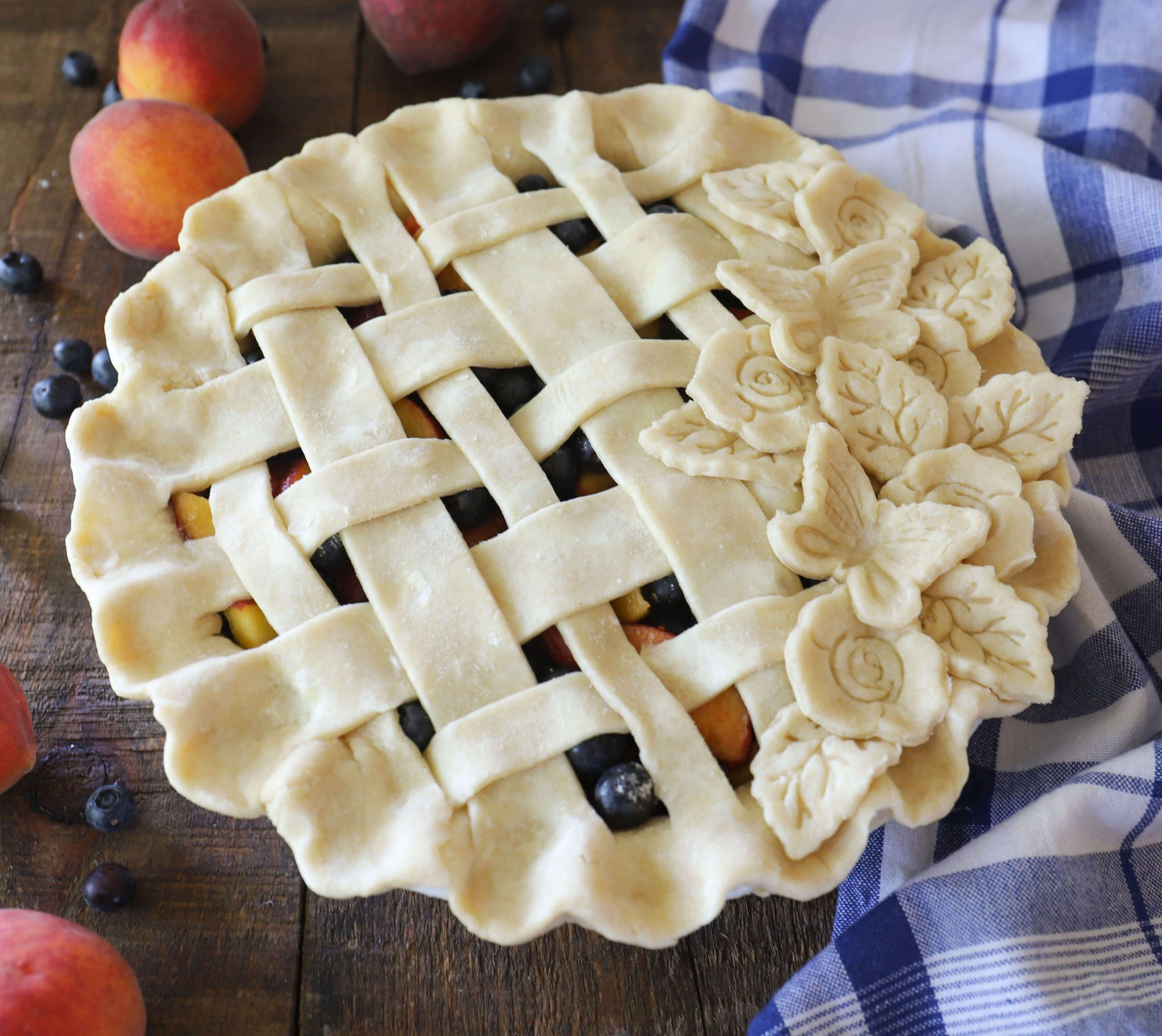Peach and Blueberry Pie