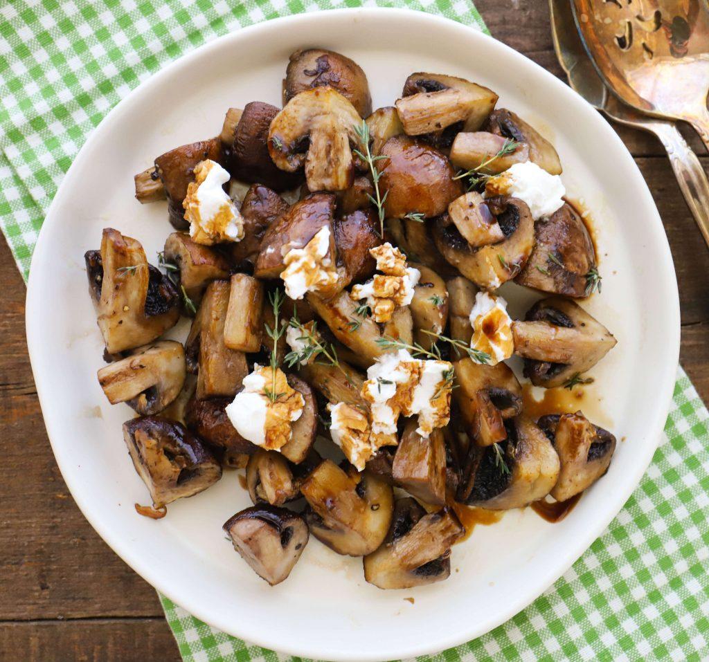 Air Fryer Balsamic Mushrooms